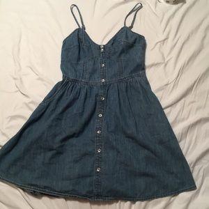 Express Denim Mini Sun Dress